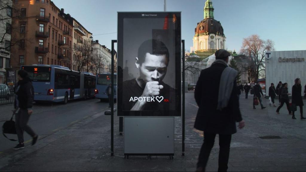 Во Стокхолм  Билборди што кашлаат кога пушите во близина
